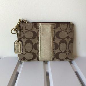Coach wristlet wallet pouch